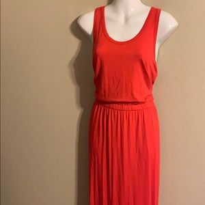 J. Crew red racer back maxi dress size large